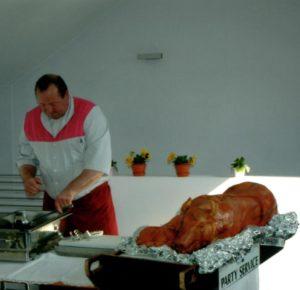 Vorbereitung eines Caterings